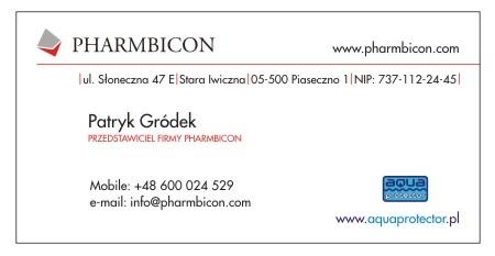 Pharmbicon wizytowki